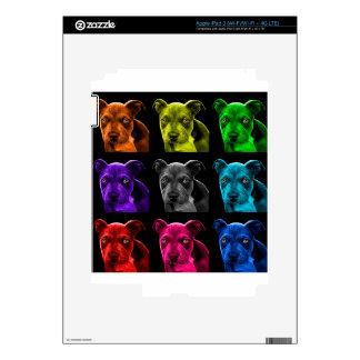 bb del arte pop del perro del pitbull 0785 iPad 3 pegatina skin