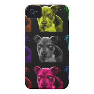 bb del arte pop del perro del pitbull 0785 iPhone 4 Case-Mate funda