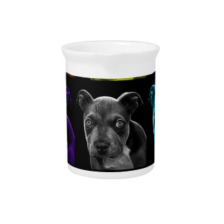 bb del arte pop del perro del pitbull 0785 jarra de beber