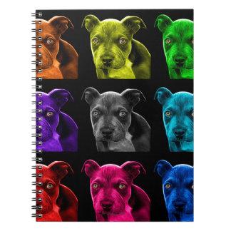 bb del arte pop del perro del pitbull 0785 libreta