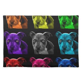 bb del arte pop del perro del pitbull 0785 mantel