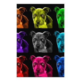bb del arte pop del perro del pitbull 0785 papelería