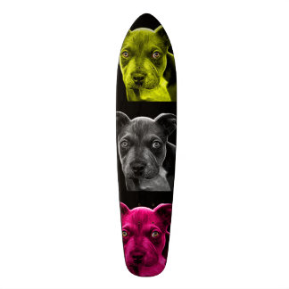 bb del arte pop del perro del pitbull 0785 patines personalizados