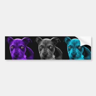 bb del arte pop del perro del pitbull 0785 pegatina para auto