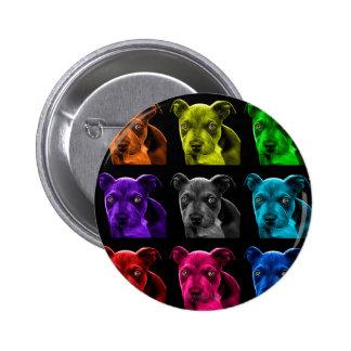 bb del arte pop del perro del pitbull 0785 pin redondo de 2 pulgadas