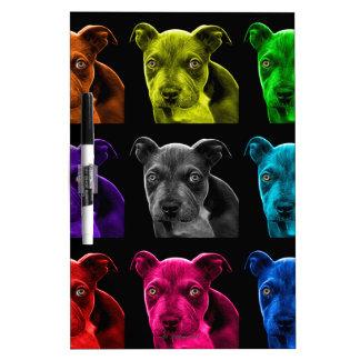 bb del arte pop del perro del pitbull 0785 pizarra