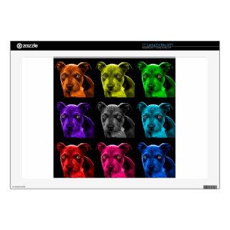 bb del arte pop del perro del pitbull 0785 portátil 43,2cm skin