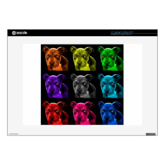bb del arte pop del perro del pitbull 0785 portátil skin