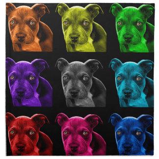 bb del arte pop del perro del pitbull 0785 servilletas