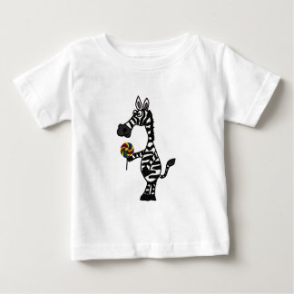 BB- Funky Zebra with a Lollipop Baby Outfit Baby T-Shirt