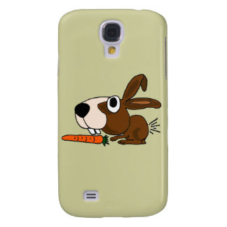 BB- Funny Bunny Rabbit and Carrot Samsung Galaxy S4 Cover