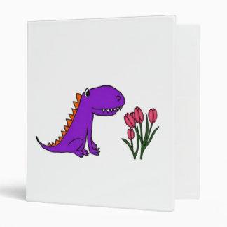 BB- Funny Dragon and Tulips Cartoon Binder