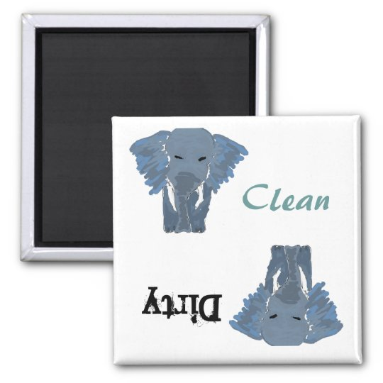 BB- Funny Elephant Dishwasher Magnet