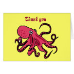 BB- Funny Octopus Thank You Card
