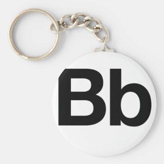 Bb Helvética Llaveros Personalizados