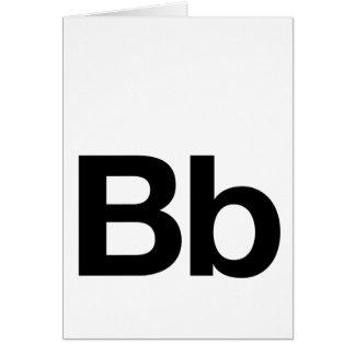 Bb Helvética Tarjeta De Felicitación