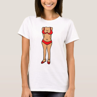 BB- Hilarious Bikini Bathing Suit Body Cartoon T-Shirt