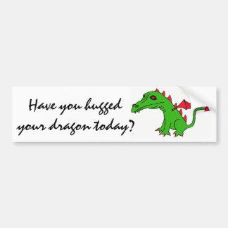 BB- Hugged your dragon bumper sticker