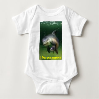 bb, I love my mommy Baby Bodysuit