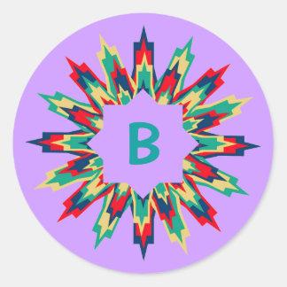 Bb Medallion Assembled Brights Classic Round Sticker