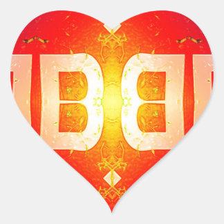 BB Pattern Heart Sticker