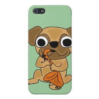 BB- Pug Playing Saxo Cartoon iPhone 5 Covers