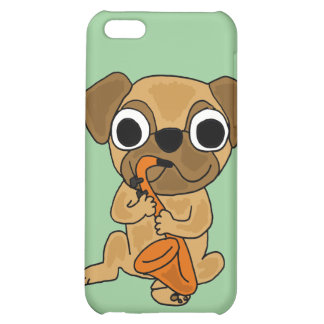 BB- Pug Playing Saxo Cartoon iPhone 5C Cover
