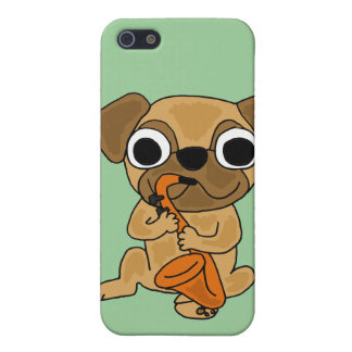 BB- Pug Playing Saxo Cartoon iPhone SE/5/5s Case