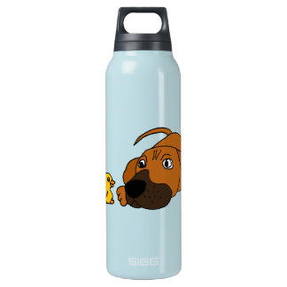 BB- Puppy Dog with Rubber Duck Insulated Water Bottle