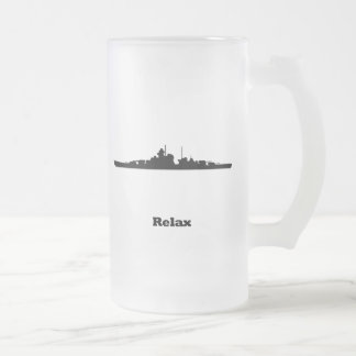 BB Relax Frosted Glass Beer Mug