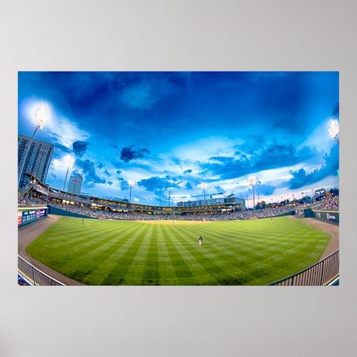 BB&T Ballpark Stadium in North Carolina Poster