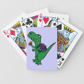 BB- T-rex Dinosaur Back to School Cartoon Playing Cards