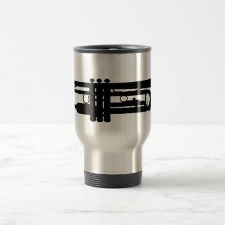 Bb trumpets travel mug