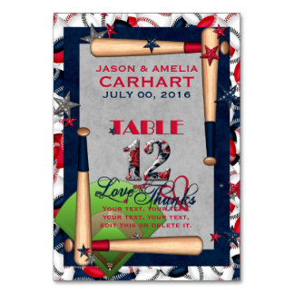 BB Wedding Numbered Table Cards 12-CUSTOM TEMPLATE
