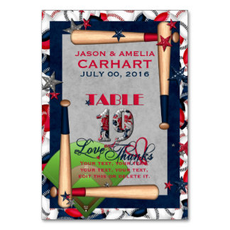 BB Wedding Numbered Table Cards 19-CUSTOM TEMPLATE