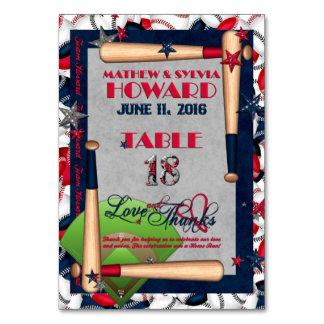 BB Wedding Numbered Table Cards-CUSTOM HOWARD 18 Card
