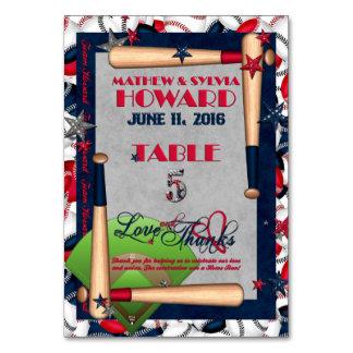 BB Wedding Numbered Table Cards-CUSTOM HOWARD 5 Card