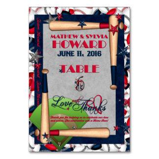 BB Wedding Numbered Table Cards-CUSTOM HOWARD 6 Card