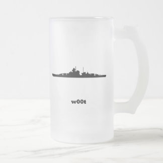 BB woot Frosted Glass Beer Mug