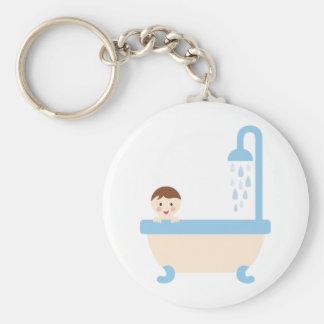 BBabyShowerP13 Basic Round Button Keychain