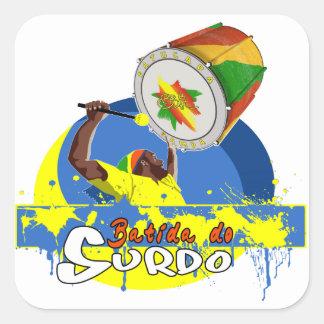BBaC Stuff Surdo Special K Samba Batucada Brasil Pegatina Cuadrada
