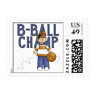 BBall Champ T-shirts and Gifts Stamp