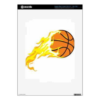bball flame iPad 3 decal