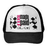 "Bball-gorra del ""UNO MISMO MADE&PAID"" de POLI$HED= Gorros"