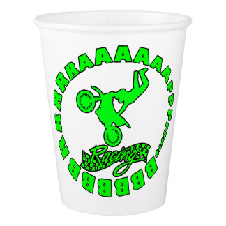 bbbbrrraaaaapppp motocross rider paper cup