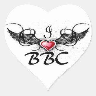 BBC lover Heart Sticker