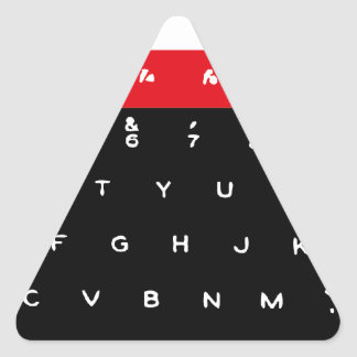 BBC Micro Keyboard Keys Triangle Sticker