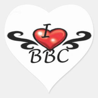 BBC PEGATINA EN FORMA DE CORAZÓN
