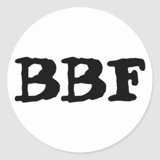 BBF, Best Friends Forever, Set of Stickers