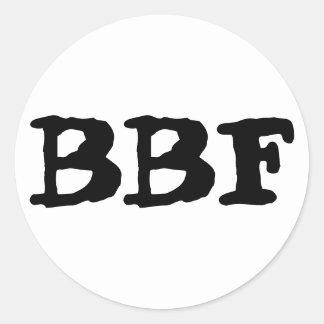 BBF, mejores amigos para siempre, sistema de Etiquetas Redondas